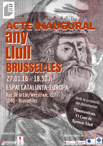 Acte inaugural Any Llull Brussel·les