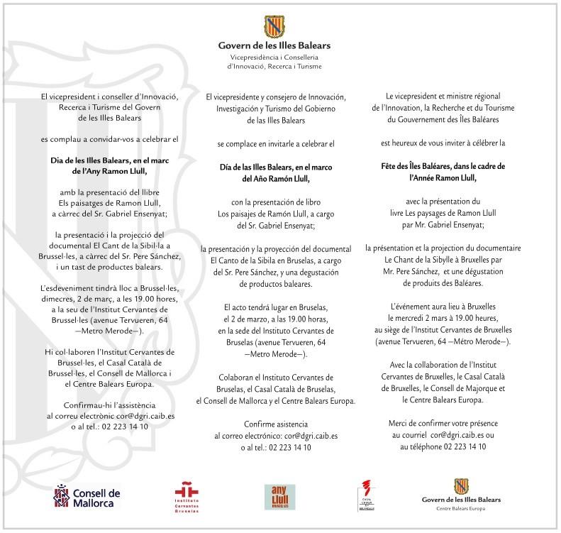 Dia de les Illes Balears, en el marc de l'Any Ramon Llull